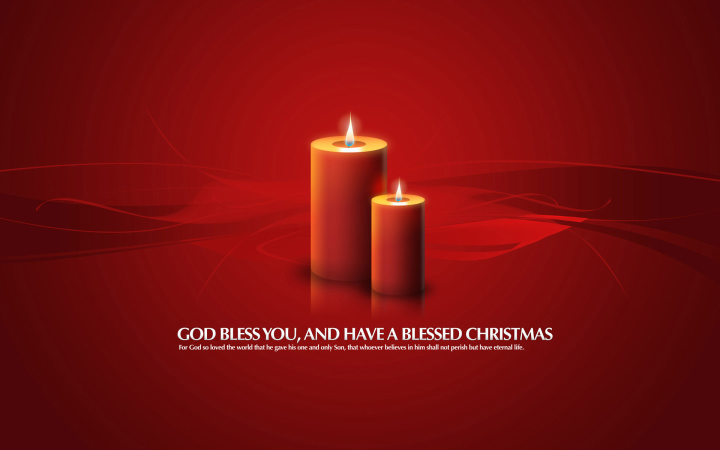 Christmas Candle Greetings Wallpaper