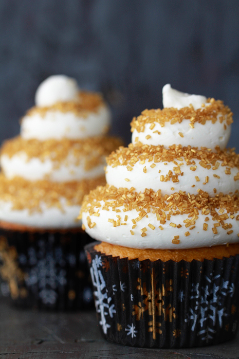Christmas Dishes Recipes Eggnog Cupcakes with Spiced Rum