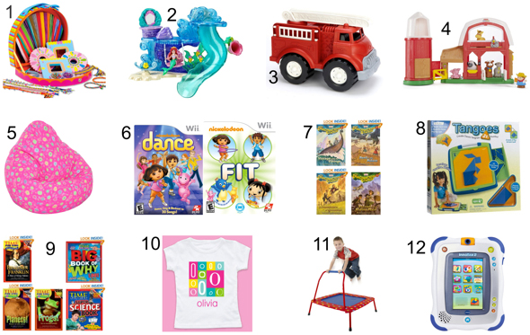 Christmas Gift Ideas for Kids - Toy, Bean Bag, Cloth, Storybook