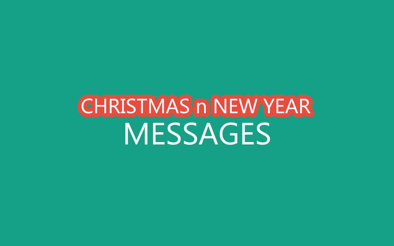 best 20 christmas n new year messages