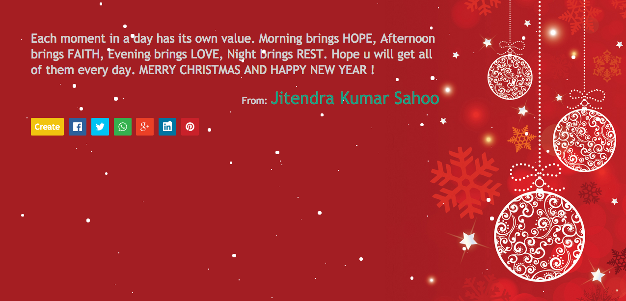 Create Christmas and New Year Online Greetings - Happy New Year 2015