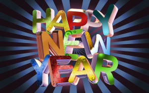 Happy New Year 2015 3D Wallpapers
