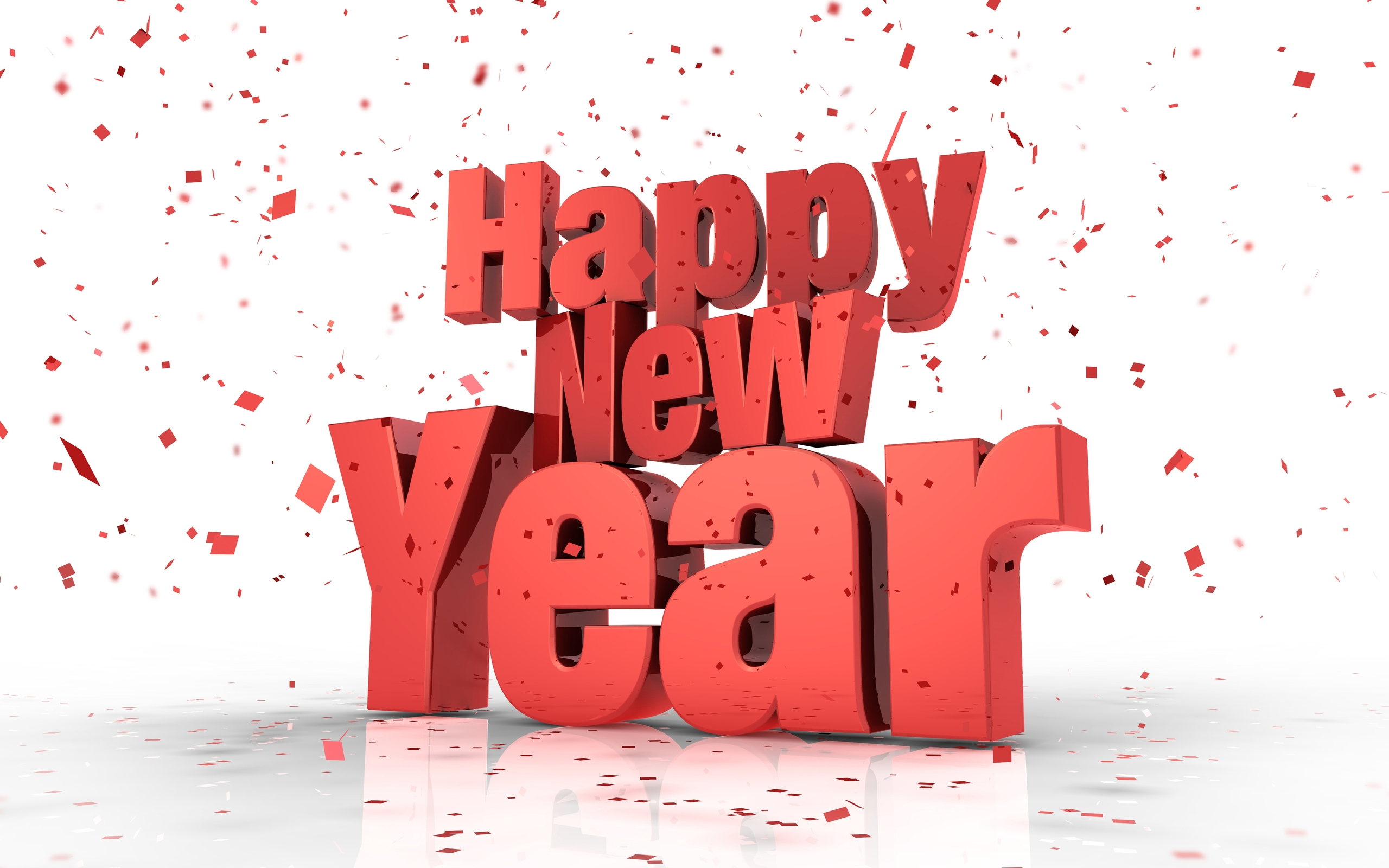 Happy New Year 2015 3D Reddish Wallpapers