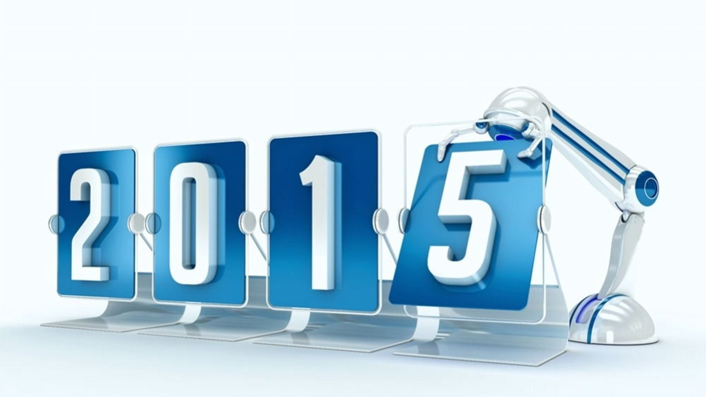 Happy New Year 2015 3D Robot Wallpapers