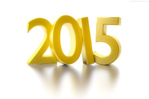 Happy New Year 2015 Golden Wallpaper