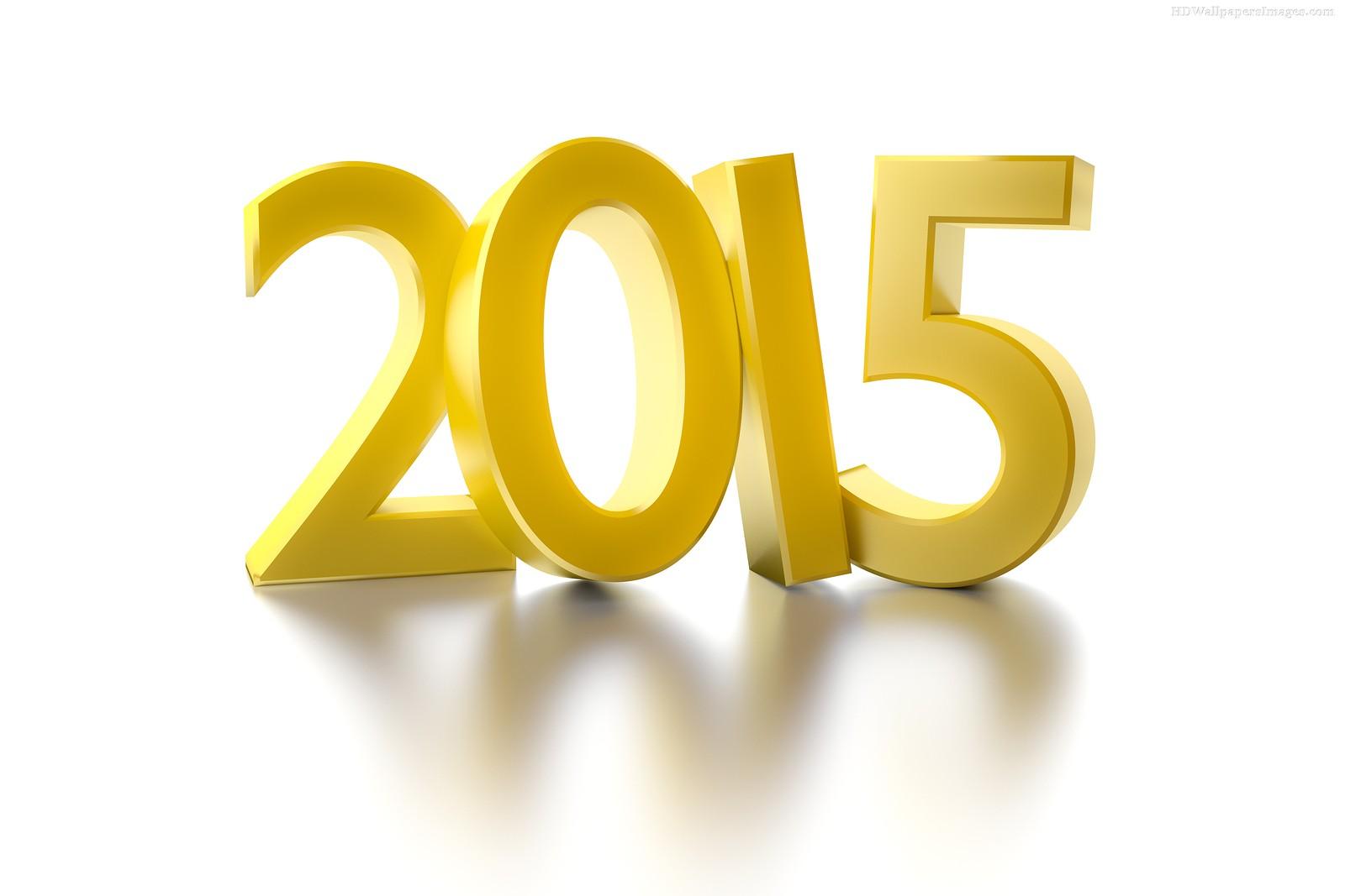 Happy New Year 2015 Golden Wallpaper