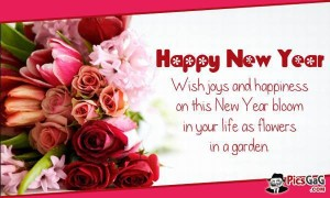 New Year Wish Greetings Card