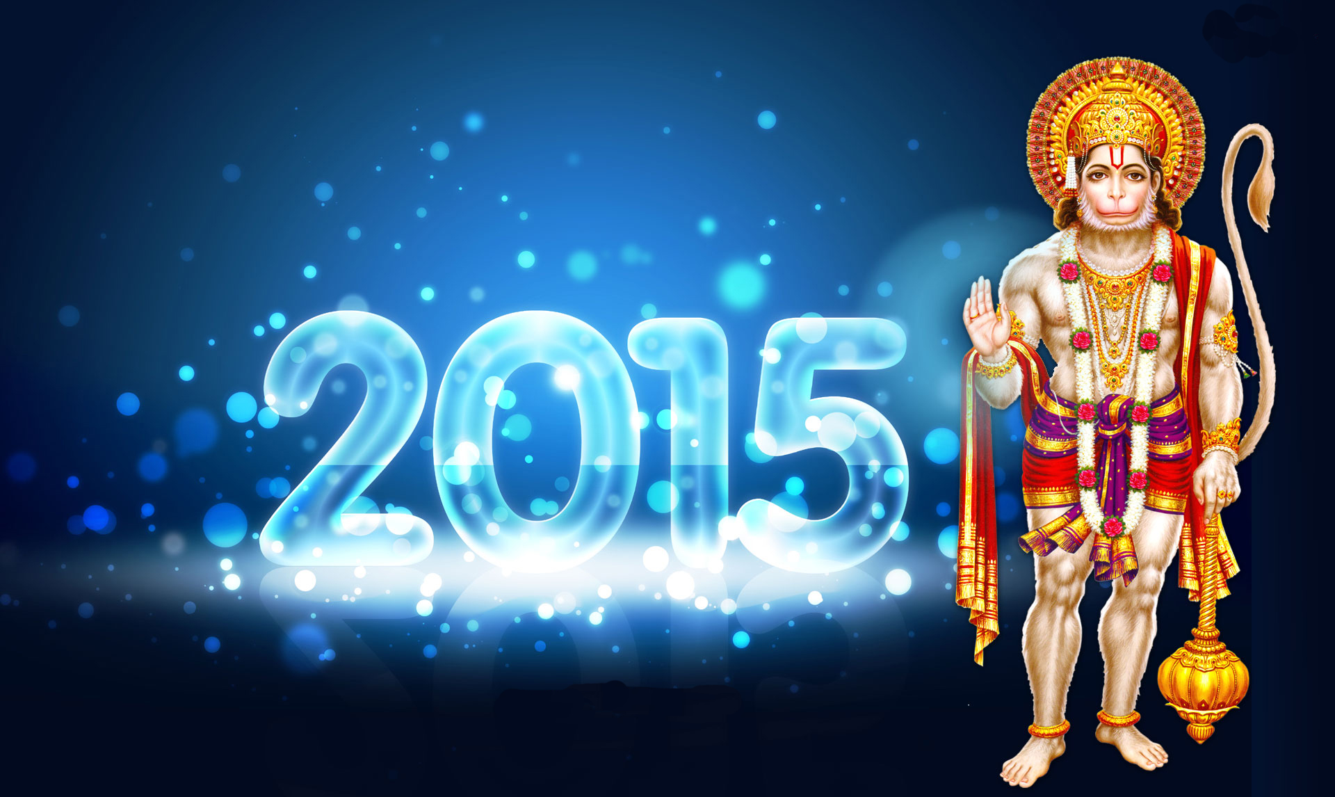 Happy New Year 2015 God Hanuman Images