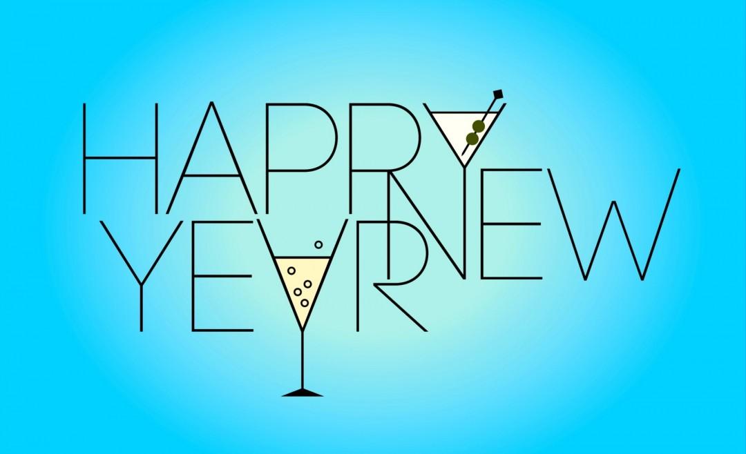 Happy New Year Greetings HD Wallpaper