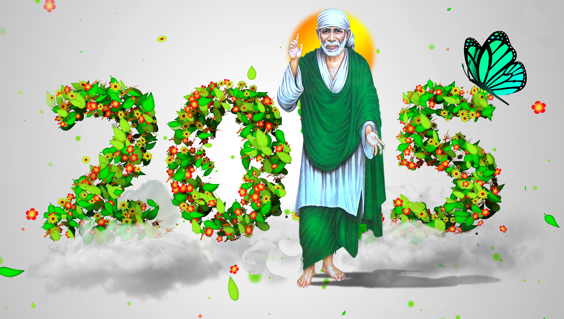Wallpaper download new year 2015 - Happy New Year 2015 Sai Baba Hd Wallpapers