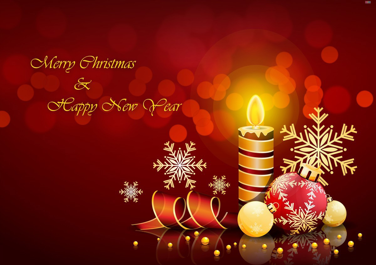 Happy New Year n Christmas Greetings Card