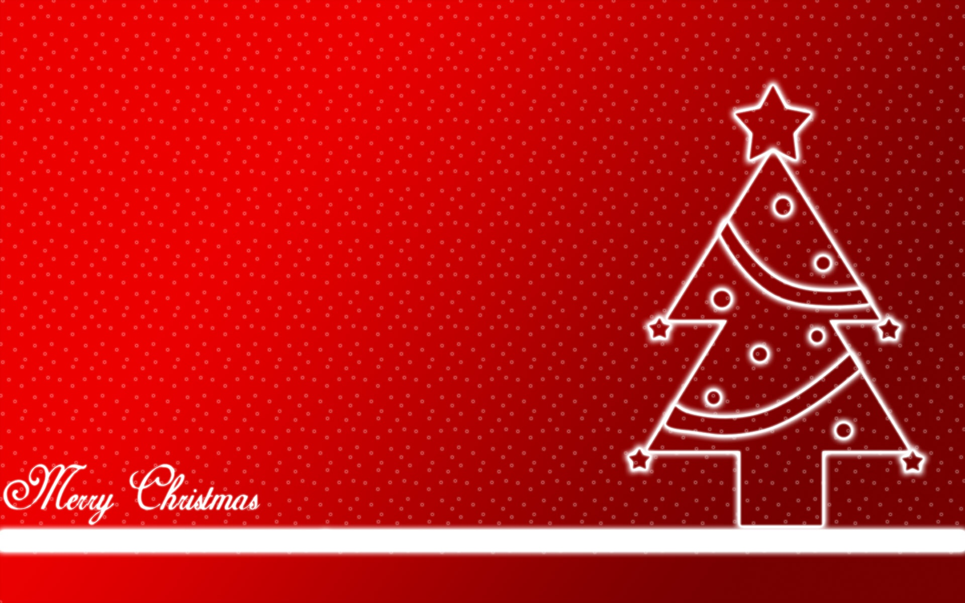 Merry Christmas Greetings in Red Background