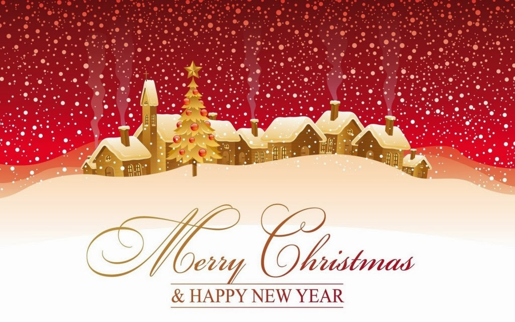 Merry Christmas n Happy New Year Greetings Wallpaper