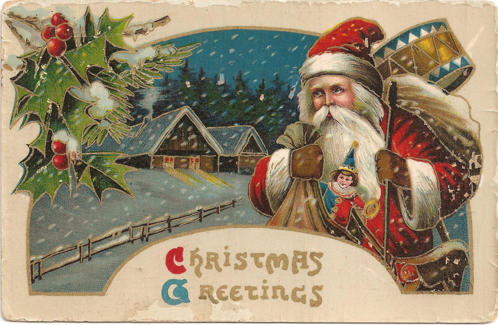 Old Style Christmas Greetings