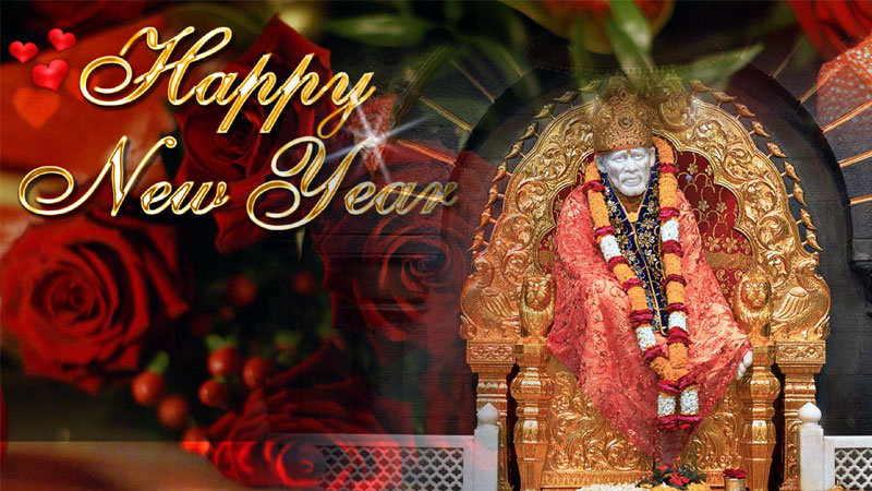 Sai Baba New Year Greetings Card